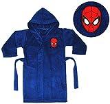 Unbekannt Frottee Bademantel -  Spider-Man  - 5 bis 8 Jahre / Gr. 116 - 140 - für Kinder / Jungen - 100 % Baumwolle - Spiderman - Badetuch - Amazing Ultimate / Morgen..