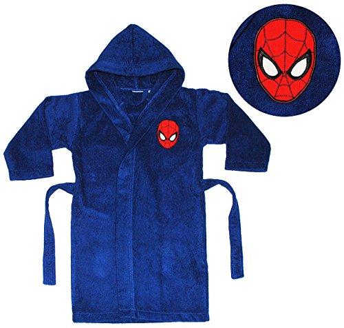 Unbekannt Frottee Bademantel -  Spider-Man  - 5 bis 8 Jahre / Gr. 116 - 140 - für Kinder / Jungen - 100 % Baumwolle - Spiderman - Badetuch - Amazing Ultimate / Morgen.. (Bademantel Spiderman)