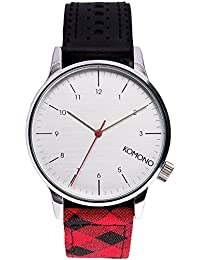 Komono kom-w2203Unisex Watch Leather Strap Multicolor