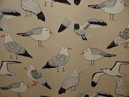 Pandoras Halben Meter Natur Salty die Seagull Baumwolle Vorhang Polster Raffrollo Kissen Nautisches Stoff