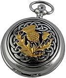 A E Williams Men's Celtic Knot Scottish thistle Quartz Pocket Watch 4975