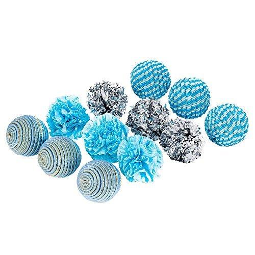 blueberry-pet-jouet-pour-chat-jouets-balles-pour-chat-theme-ocean-beach-aigue-marine-lot-de-12