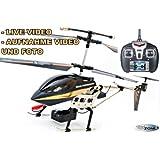 RC Hubschrauber Sky Spy 2,4 Ghz LCD Display Live Video Foto Kamera Aufzeichnung Gyro RTF