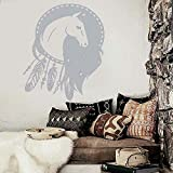 guijiumai Baby Kinderzimmer Wand Aufkleber Vinyl abnehmbare Dreamcatcher Pferd ethnischen Dekor...