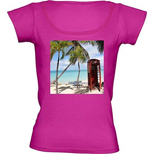 camiseta-rosa-fuschia-con-cuello-redondo-para-mujeres-tamano-s-cabina-telefonica-caribe-by-christine