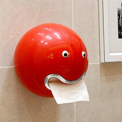 TOYM- Kreative Saugertoilettenpapier -Boxen gezogen Karton Freie Stempelhalter Toilettenpapierhalter ( farbe : Rot )