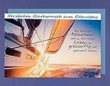 Segler Geburtstag Karte Grußkarte Segel Boot Meer 16x11cm