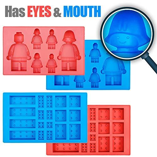 Eiswürfelform mit Roboter-Motiv, Silikonform, Süßigkeitenformen, Schokoladenform, für Kinder-Partys und Backen, Minifiguren, 4 Stück - Erwachsene Gummy Vitamine