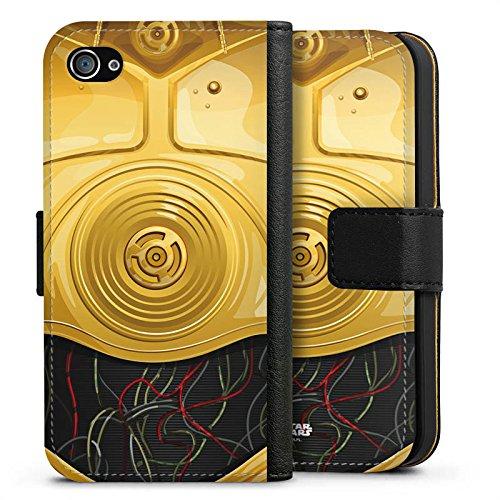 Apple iPhone X Silikon Hülle Case Schutzhülle Star Wars Merchandise Fanartikel C3PO Sideflip Tasche schwarz