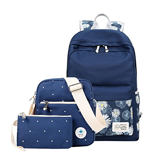 Borsa a tracolla doppia/ borsa in canvas stampa/Studente zaino da viaggio-B A