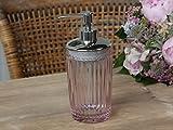 Seifenspender mit Perlenkante (Glas, Rosa, Chic Antique)
