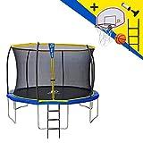 STARFLEX Trampoline Jump Power avec echelle et Panier de Basket (370)
