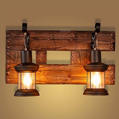 LIVY Vintage Holztisch Lampen am Bett Schlafzimmer Wohnzimmer Flur pastorale Nordamerika kreative chinesische antike Holz Wandleuchte