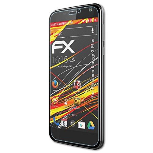 atFolix Schutzfolie kompatibel mit Phicomm Energy 3 Plus Bildschirmschutzfolie, HD-Entspiegelung FX Folie (3X)