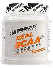 Bigmuscles Nutrition Real BCAA [50 Servings, 250g] -100% Micronized Vegan, Muscle Recovery & Endurance BCAA Powder, 5 Grams of Amino Acids, Keto Friendly, Caffeine Free [Summer Bonanza]