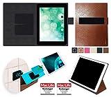 reboon Hülle für Blaupunkt Endeavour 1010 Tasche Cover Case Bumper | in Braun Leder | Testsieger