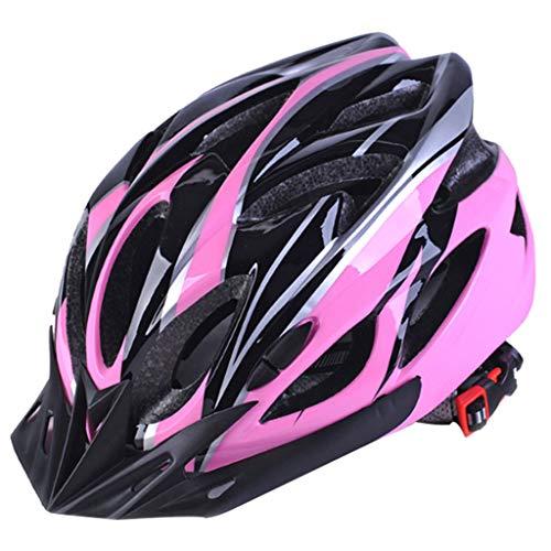 Yujingc Fahrradhelm Verstellbarer Erwachsener Helm für Damen Herren Fahrrad Rennrad Fahrrad BMX Reiten Leichte Mountainbike Radkappen,Pink,L