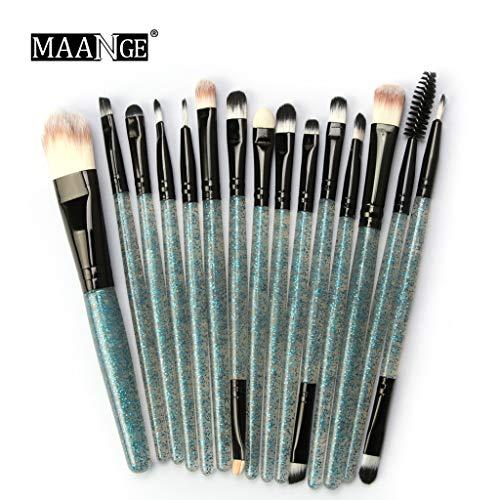 MAANGE 15 pièces Wendy Professionnel Multifonctionnel Pinceau de maquillage Pinceau ombre à paupières Pinceau à poudre (Bleu noir)