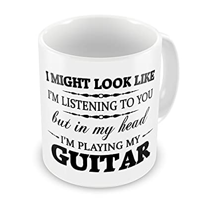 In My Head I'm Playing My (Guitar) Funny Novelty Gift Mug from GIFT MUGS