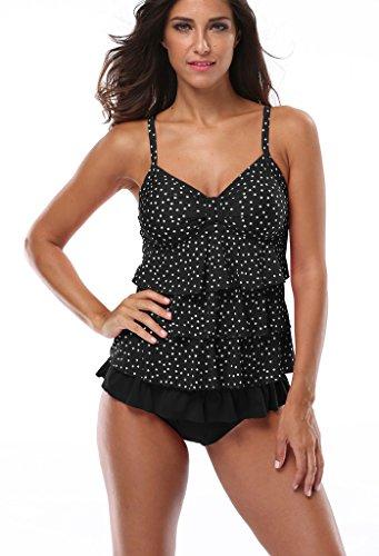 Attraco-Womens-Rita-Tiered-Tankini-Set-Two-Piece-Swimsuit-Swimwear-With-Shorts