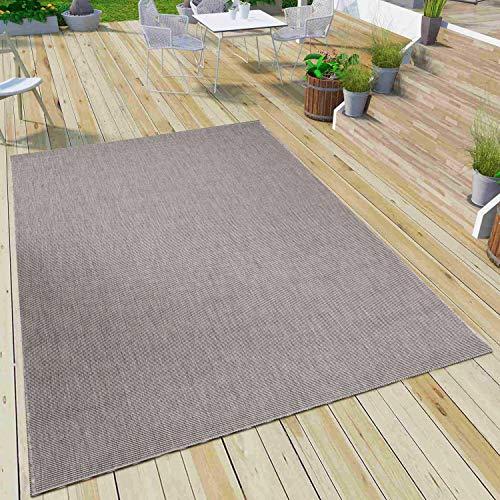 *VIMODA Robuster Flachgewebe Teppich In- und Outdoor Tauglich 100% Polypropylen, Maße:120×170 cm*