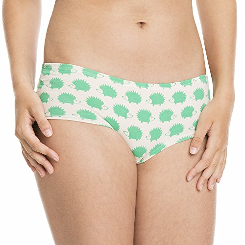 loud + proud Damen Panty, Organic Cotton, Gots, Slip Donna Verde (Verde ve)