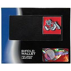 NCAA Fresno State Bulldogs Leather Bi-fold Wallet, Black