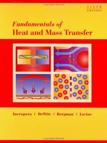 Fundamentals of Heat and Mass Transfer por Frank P. Incropera