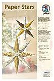 Ursus 22550099 - Paper Stars Golden Charm, 6 Sterne in 2 Verschiedenen Größen, Gold