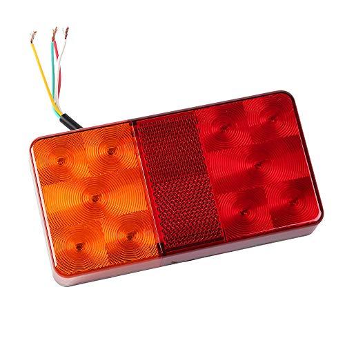 AOHEWEI Anhänger Rückleuchten LED Bremsleuchte Für Lkw Beleuchtung Set Heck Stoppen Blinklicht 12v Universal Wasserdicht Perfekt Für Anhänger Wohnwagen Lkw Oder Tractor (10 led chips- A)