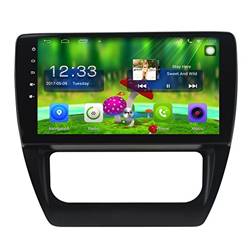 TOPNAVI 10.1 Inch Android 6.0 in Dash Car GPS Navigation for VW Sagitar 2012 2013 2014 2015 2016with Canbus Car Full Touch Screen CAM IN Car Stereo Player Radio Wifi Bluetooth Carplay Octa Core Monitor
