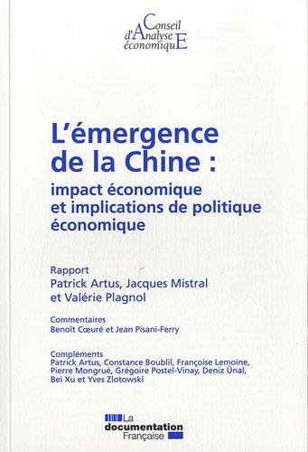 L'émergence de la Chine : impact économique et implications de politique économique (CAE 98)