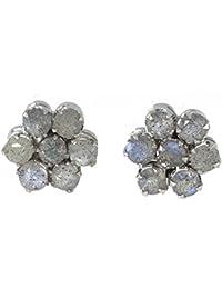 Pendientes con Labradorita Ef 36 - Bisutería de plata rodinada con Labradorita - Muchos piedras disponibles - ARTIPOL