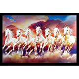 Incredible Wood Horse Framed Special Effect Textured Wall Art Paintings (12x18-inch, Wood- 35x2x50cm, Multicolour)