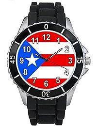 Timest - US Puerto Rico - Reloj Unisex con Correa de Silicona negro SE0603b