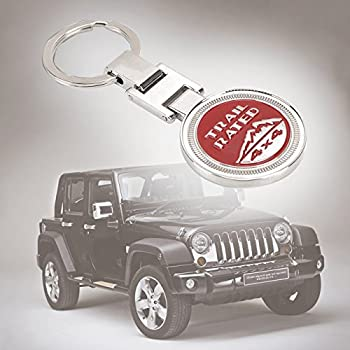 Keyring , Metal Trail Rate 4x4 Souvenirs Keychain 3d Badge Logo (Rot) 0