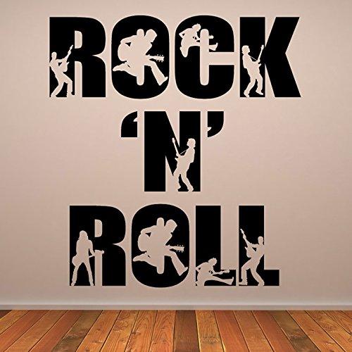 Rock-n-Roll-Rockband-Musiker-Band-Logos-Wandsticker-Musik-Kunstabziehbilder-verfgbar-in-5-Gren-und-25-Farben-Klein-Schwarz