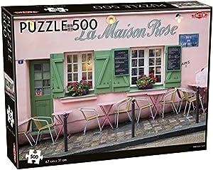 Tactic Parisian Cafe 500 pcs Puzzle - Rompecabezas (Puzzle Rompecabezas, Paisaje, Niños, Niño/niña, 8 año(s), Interior)
