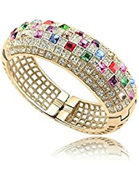 Fashion9 Exclusive Elegant Party Wear 18K Rose Gold & Rhodium Plated Glamorous Bracelet For Women/Girls (Combo...