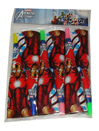 Untumble Iron Man Avengers Party Horn Hooter Blowers Noise maker Whistle Blowout SET OF 12