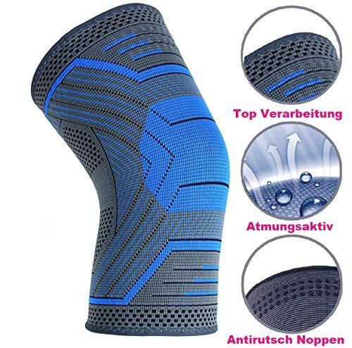 Belmed. Kniebandage Sport, Fußball, Joggen oder Fitness, Meniskus Knie - Bandage - Rechts & Links tragbar