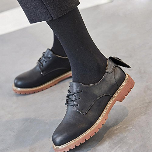 Casual Black College Ascenseur Chaussures Rétro Simple Printemps Et gUIagSqd