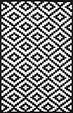 Green Decore Wendbarer Öko-Teppich aus recyceltem Kunststoff (Plastik) für Innen und Außen/Federleicht - 70 x 180 cm Schwarz/Weiß