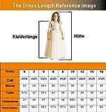 Izanoy Spitze Blumenmädchenkleider Lange Erstkommunion Kleider für Mädchen Weiß Size 8 - 3