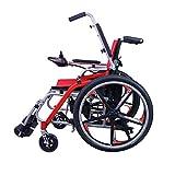 Wheelchair Electric Powerchair, Elderly Disabled Scooter Four-Wheel Electric Wheelchair Lightweight Folding Self Propelled Wheelchair