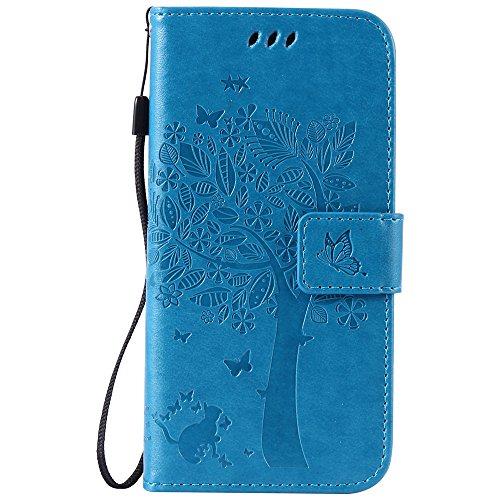 Nancen Compatible with Handyhülle Galaxy S6 / G9200 Flip Schutzhülle Zubehör Lederhülle mit Silikon Back Cover PU Leder Handytasche