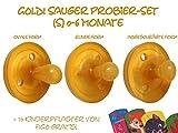 Goldi Sauger -- PROBIERPACK Größe 1-- Naturform