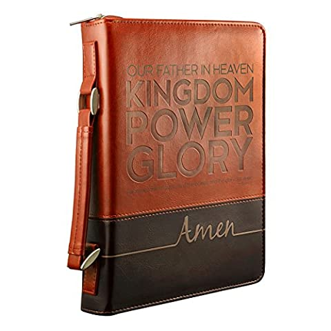 Bible Cover Lux-Leather Lord's Prayer - Medium