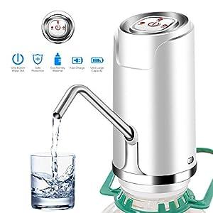 ONEVER Bomba de Agua Potable Inalámbrica Eléctrica Automática Botella de Agua Botella Universal Galón Botella Bomba de Agua Dispensador Interruptor Para el Hogar, la Oficina y la Cocina