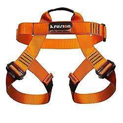 Fusion Centaur Half Body Climbing Harness, Medium/Large, Orange